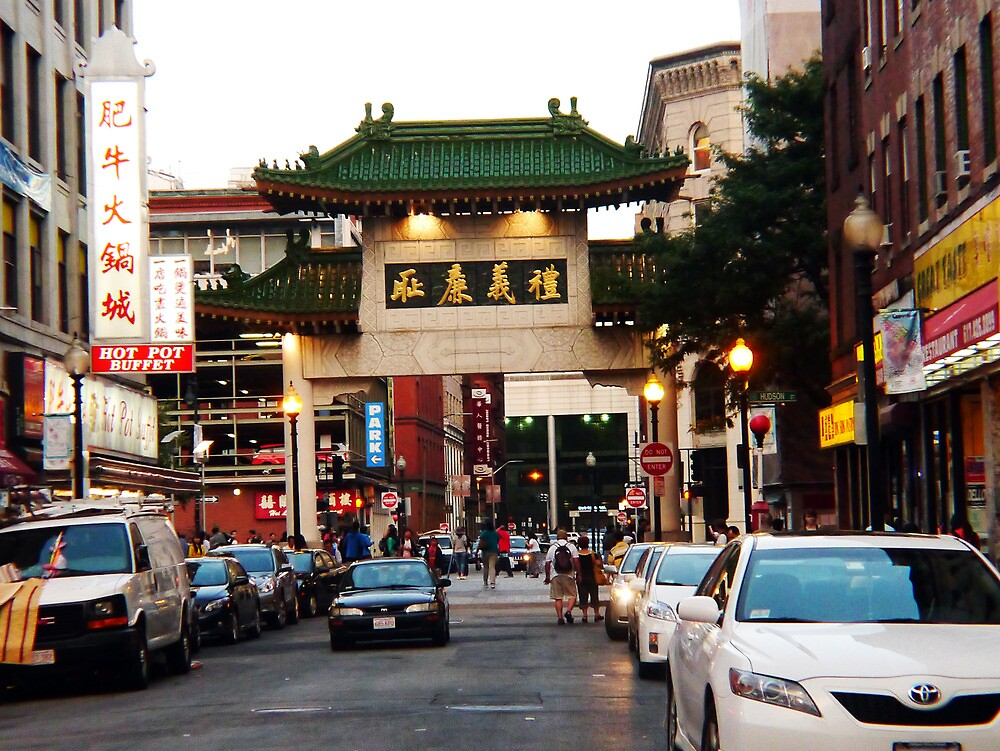 Gateway to Boston's Chinatown by Choux