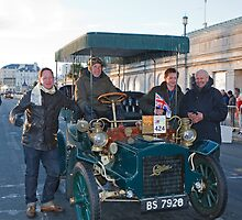 Tony Hirst On London to Brighton Veteran Car Run by Keith Larby