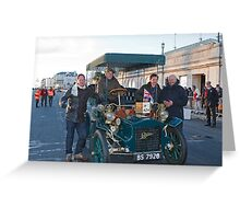 Tony Hirst On London to Brighton Veteran Car Run Greeting Card