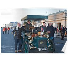 Tony Hirst On London to Brighton Veteran Car Run Poster