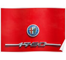Alfa Romeo 1750 Badge Poster