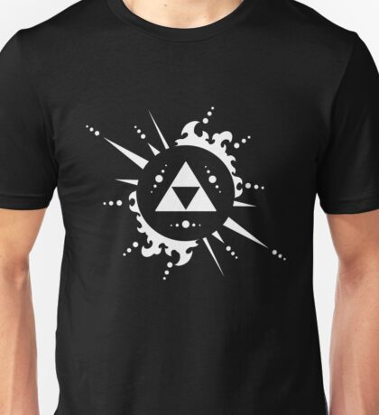 The legend of Zelda Triforce, White Unisex T-Shirt