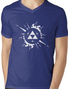 The legend of Zelda Triforce, White Mens V-Neck T-Shirt
