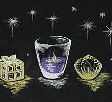 Christmas Candle light  by Teresa White