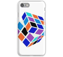 Rubix Cube - Unsolved. Negative Space iPhone Case/Skin