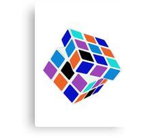 Rubix Cube - Unsolved. Negative Space Canvas Print