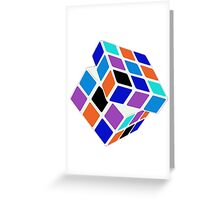Rubix Cube - Unsolved. Negative Space Greeting Card