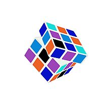 Rubix Cube - Unsolved. Negative Space Photographic Print