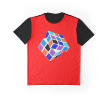 Rubix Cube - Unsolved. Negative Space Graphic T-Shirt