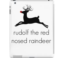 Christmas Rudolf the red nosed raindeer iPad Case/Skin