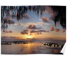 A Pastel - Coloured Sunrise Poster