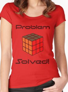 Rubix Cube - Problem Solved. Women's Fitted Scoop T-Shirt
