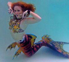Tiger Mermaid by AlynnArts