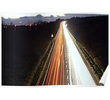 LIGHT TRAILS Poster