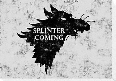 Splinter is coming (Poster) by karlangas