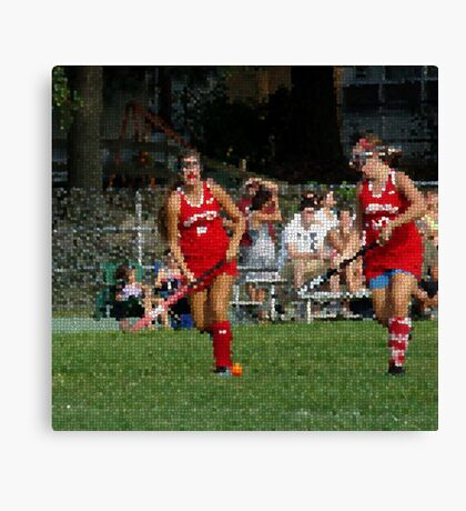 090712 050 1 stained glass field hockey Canvas Print