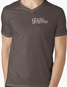 Photographer T Shirt White Mens V-Neck T-Shirt