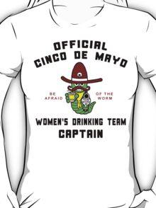 "Cinco de Mayo ""Women's Drinking Team Captain"" T-Shirt"