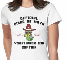 "Cinco de Mayo ""Women's Drinking Team Captain"" Womens Fitted T-Shirt"