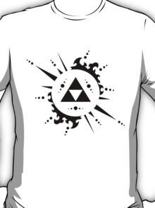 The legend of zelda Triforce, Black T-Shirt