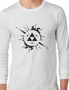 The legend of zelda Triforce, Black Long Sleeve T-Shirt