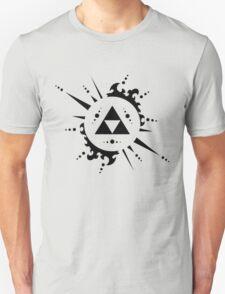 The legend of zelda Triforce, Black Unisex T-Shirt