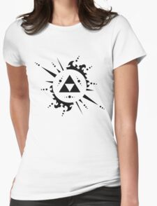 The legend of zelda Triforce, Black Womens Fitted T-Shirt