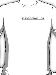 Photographer T Shirt Black T-Shirt