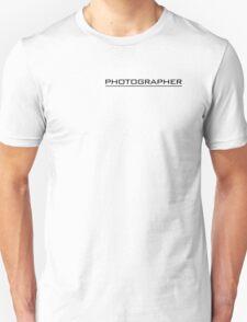 Photographer T Shirt Black Unisex T-Shirt