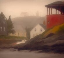 Red House, Monhegan Island Maine by Dave  Higgins