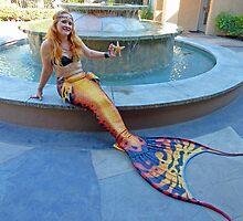 Mermaid Fountain by AlynnArts