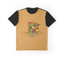 Rubix Cube - Melting Graphic T-Shirt