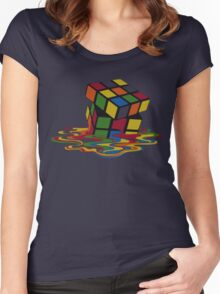 Rubix Cube - Melting Women's Fitted Scoop T-Shirt