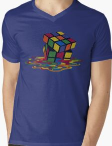Rubix Cube - Melting Mens V-Neck T-Shirt