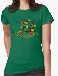 Rubix Cube - Melting Womens Fitted T-Shirt