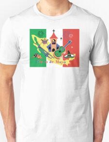 Cinco de Mayo with Mexican Flag T-Shirt