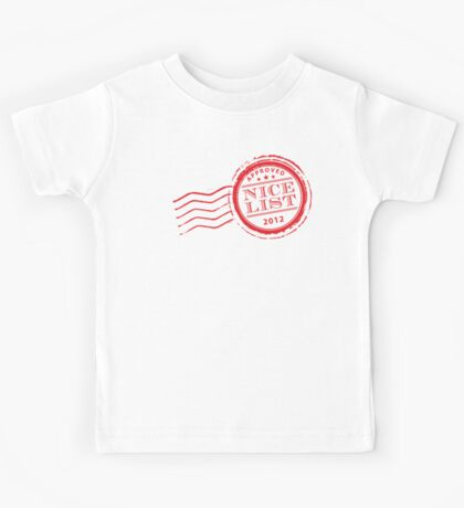 Santa's NICE LIST in red 2012 Kids Tee