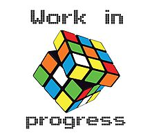 Rubix Cube - Work in progress Photographic Print