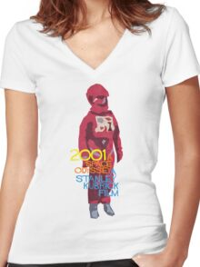 Dave Bowman Women's Fitted V-Neck T-Shirt