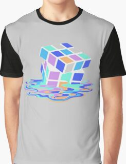 Rubix Cube - Melting. Graphic T-Shirt