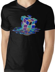 Rubix Cube - Melting. Mens V-Neck T-Shirt