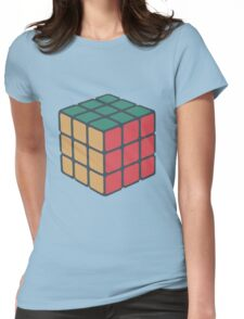Rubix Cube - Plain Womens Fitted T-Shirt