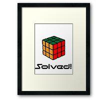 Rubix Cube - Solved Framed Print