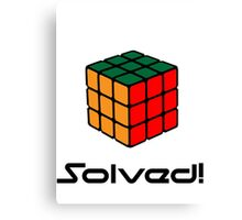 Rubix Cube - Solved Canvas Print
