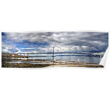 Road Bridge over the River Forth Poster