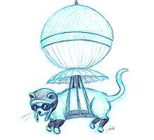 Feline Pilot by DrawingSaudade