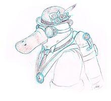 Steampunk Platypus by DrawingSaudade