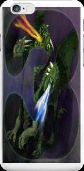 3 headed dragon case by tapiona