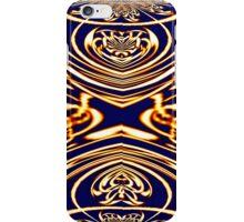 A Gold on Blue abstract (1a) made in Gimp iPhone Case/Skin