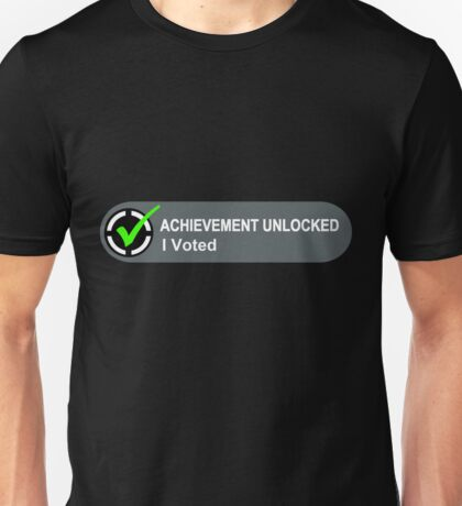 Achievement Unlocked I Voted Unisex T-Shirt